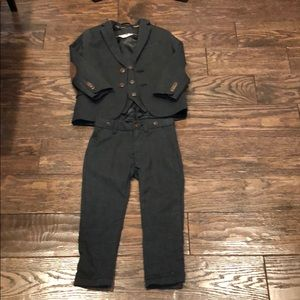 Boys H&M plaid 3-piece suit